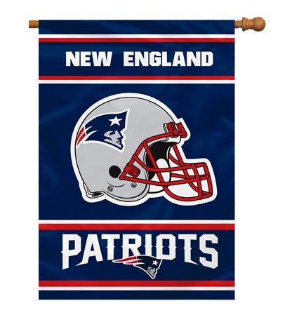 NFL Officially licensed products New England Patriots 2-Sided 28 X 40 House Banner Support your favorite team by hanging up