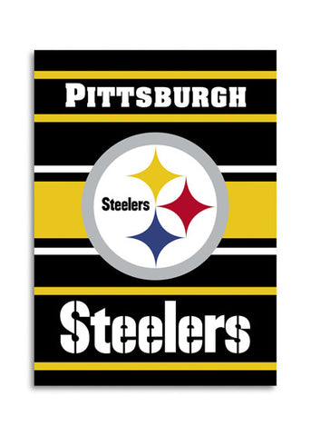 NFL Officially licensed products Pittsburgh Steelers 2-Sided 28 X 40 House Banner Support your favorite team by hanging up t