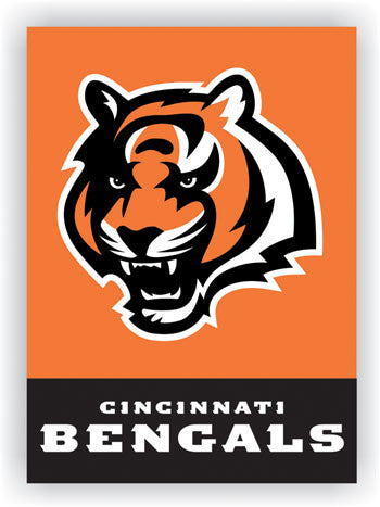 NFL Officially licensed products Cincinnati Bengals 2-Sided 28 X 40 House Banner Support your favorite team by hanging up th