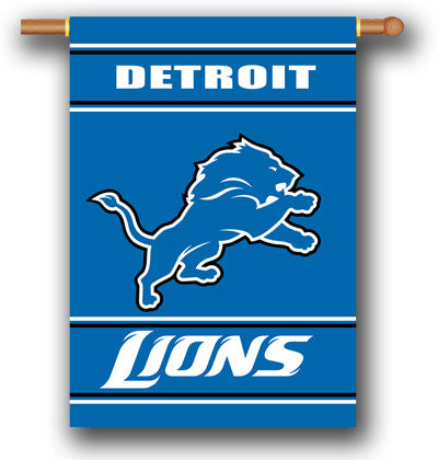 NFL Officially licensed products Detroit Lions 2-Sided 28 X 40 House Banner Support your favorite team by hanging up this tw