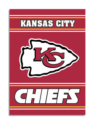 NFL Officially licensed products Kansas City Chiefs 2-Sided 28 X 40 House Banner Support your favorite team by hanging up th