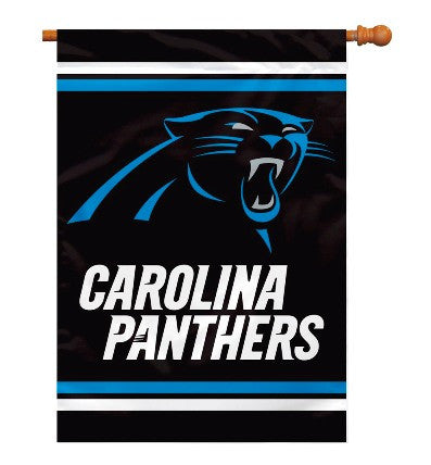 NFL Officially licensed products Carolina Panthers 2-Sided 28 X 40 House Banner Support your favorite team by hanging up thi
