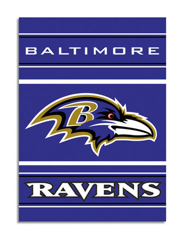 NFL Officially licensed products Baltimore Ravens 2-Sided 28 X 40 House Banner Support your favorite team by hanging up this