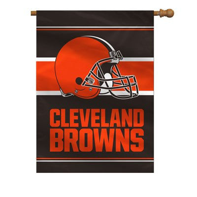 NFL Officially licensed products Cleveland Browns 2-Sided 28 X 40 House Banner Support your favorite team by hanging up this