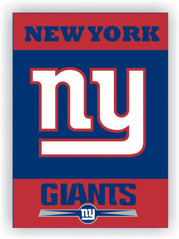 NFL Officially licensed products New York Giants 2-Sided 28 X 40 House Banner Support your favorite team by hanging up this