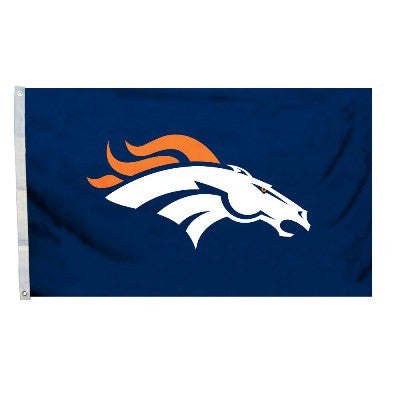 NFL Officially licensed products Denver Broncos 3 Ft. X 5 Ft. Flag W/Grommetts Show everyone that you are a die-hard fan by