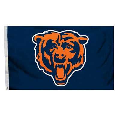 NFL Officially licensed products Chicago Bears 3 Ft. X 5 Ft. Flag W/Grommetts Show everyone that you are a die-hard fan by h