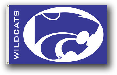NCAA Officially licensed products Kansas State Wildcats  3 Ft. X 5 Ft. Flag W/Grommets Show everyone that you are a die-hard