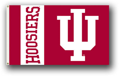 NCAA Officially licensed products Indiana Hoosiers 3 Ft. X 5 Ft. Flag W/Grommets Show everyone that you are a die-hard fan b