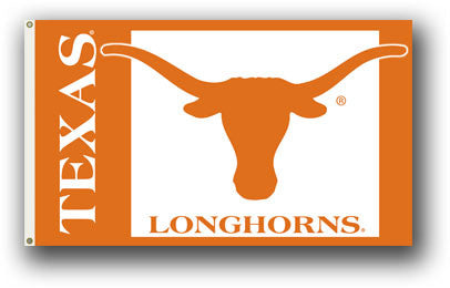 NCAA Officially licensed products Texas Longhorns 3 Ft. X 5 Ft. Flag W/Grommets Show everyone that you are a die-hard fan by