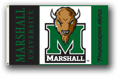 NCAA Officially licensed products Marshall Thundering Herd 3 Ft. X 5 Ft. Flag W/Grommets Show everyone that you are a die-ha