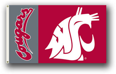 NCAA Officially licensed products Washington State Cougars 3 Ft. X 5 Ft. Flag W/Grommets Show everyone that you are a die-ha