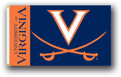 NCAA Officially licensed products Virginia Cavaliers 3 Ft. X 5 Ft. Flag W/Grommets Show everyone that you are a die-hard fan