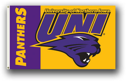 NCAA Officially licensed products Northern Iowa 3 Ft. X 5 Ft. Flag W/Grommets Show everyone that you are a die-hard fan by h