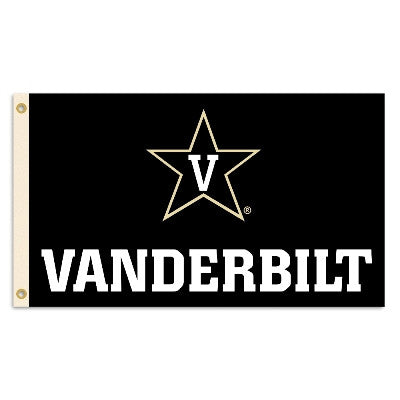NCAA Officially licensed products Vanderbilt Commodores 3 Ft. X 5 Ft. Flag W/Grommets Show everyone that you are a die-hard