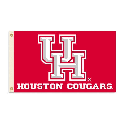 NCAA Officially licensed products Houston Cougars 3 Ft. X 5 Ft. Flag W/Grommets Show everyone that you are a die-hard fan by