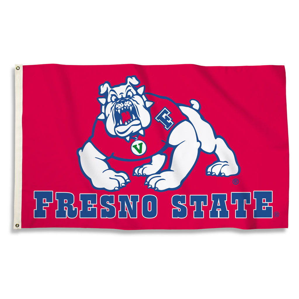 NCAA Officially licensed products Fresno State 3 Ft. X 5 Ft. Flag W/Grommets Show everyone that you are a die-hard fan by ha