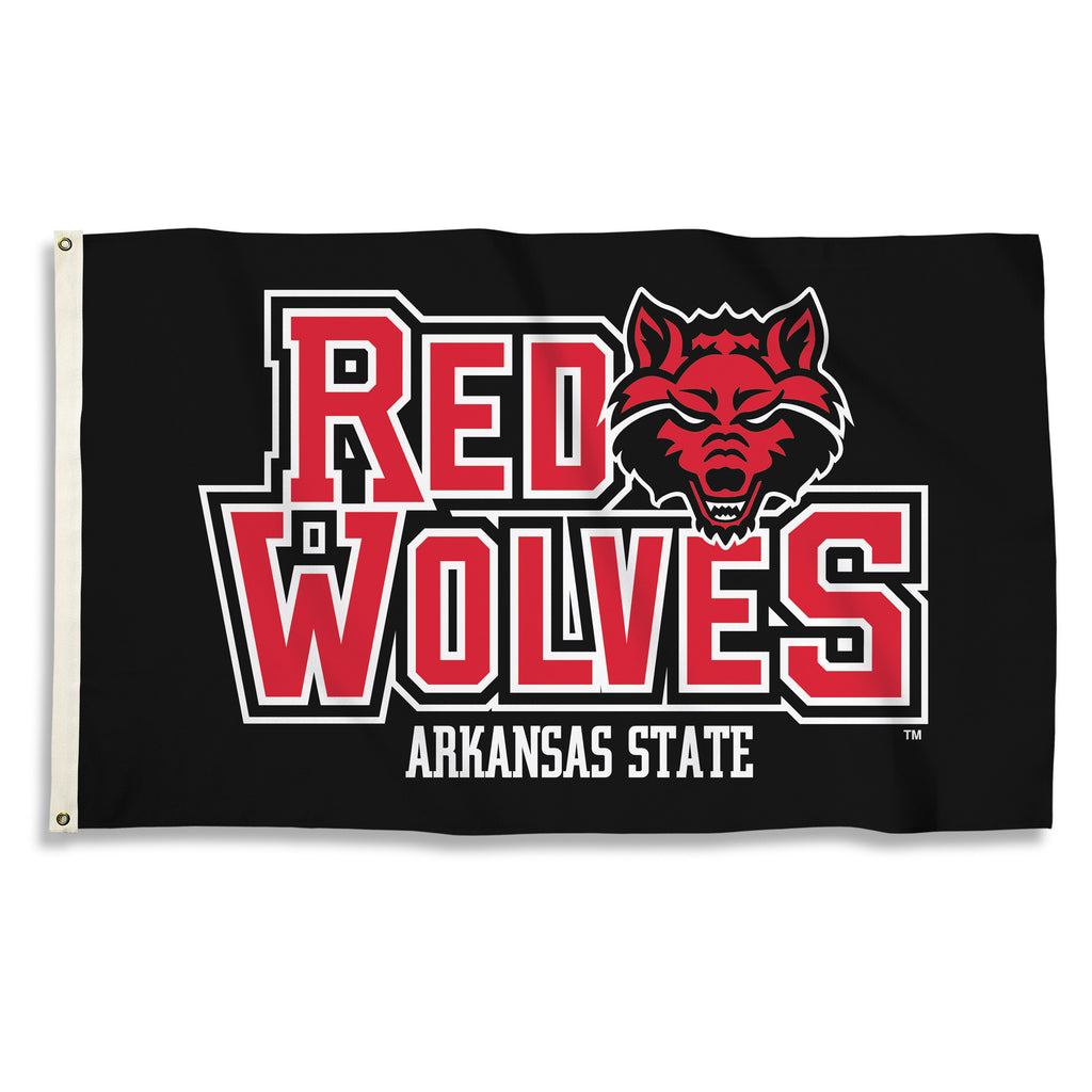 NCAA Officially licensed products Arkansas State Red Wolves 3 Ft. X 5 Ft. Flag W/Grommets Show everyone that you are a die-h