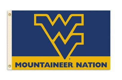 NCAA Officially licensed products West Virginia Mountaineers 3 Ft. X 5 Ft. Flag W/Grommets Show everyone that you are a die-