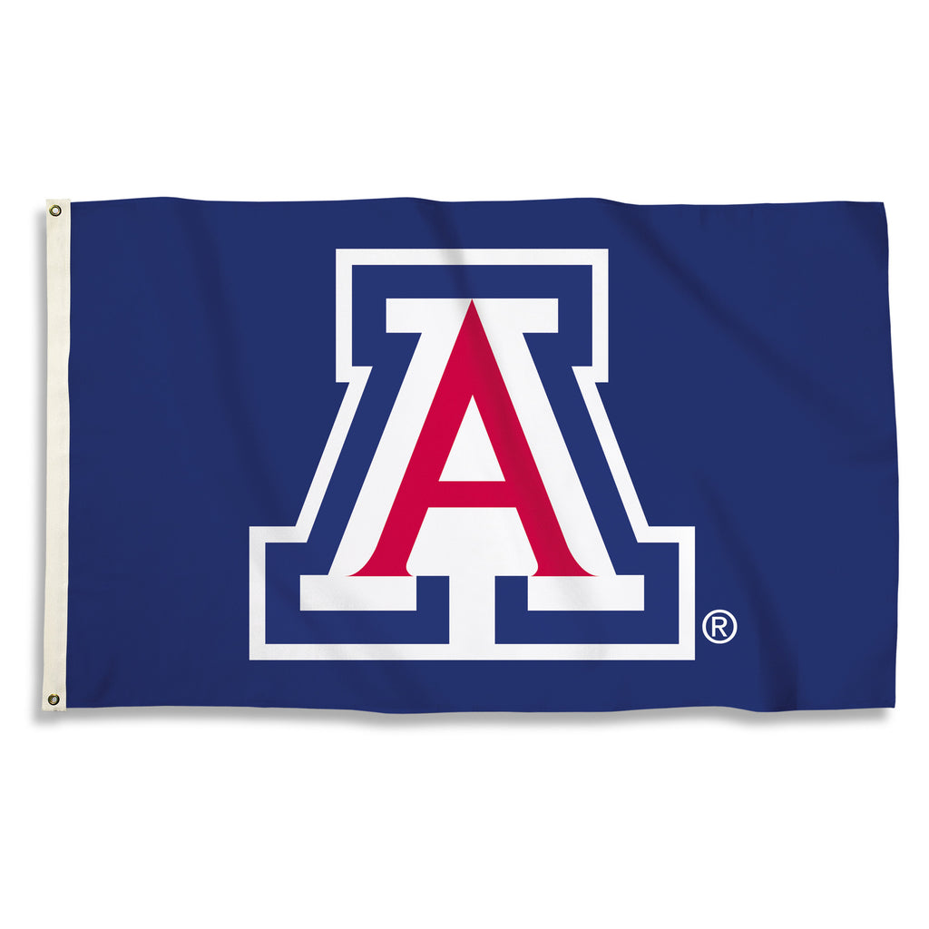 NCAA Officially licensed products Arizona Widcats 3 Ft. X 5 Ft. Flag W/Grommets Show everyone that you are a die-hard fan by