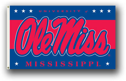 NCAA Officially licensed products Mississippi Rebels 3 Ft. X 5 Ft. Flag W/Grommets Show everyone that you are a die-hard fan