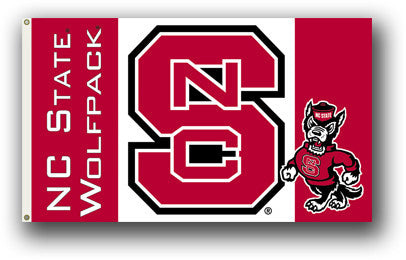 NCAA Officially licensed products North Carolina State Wolfpack 3 Ft. X 5 Ft. Flag W/Grommets Show everyone that you are a die-