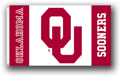NCAA Officially licensed products Oklahoma Sooners 3 Ft. X 5 Ft. Flag W/Grommets Show everyone that you are a die-hard fan b