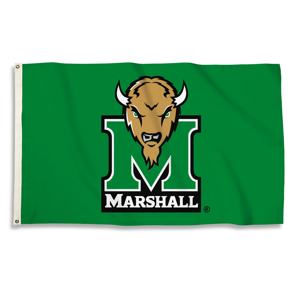 NCAA Officially licensed products Marshall Thunderiing Herd 3 Ft. X 5 Ft. Flag W/Grommets Show everyone that you are a die-h