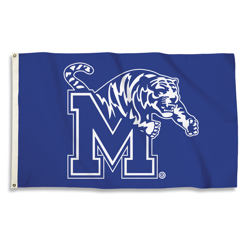NCAA Officially licensed products Memphis Tigers 3 Ft. X 5 Ft. Flag W/Grommets Show everyone that you are a die-hard fan by