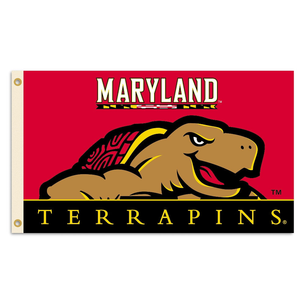 NCAA Officially licensed products Maryland Terrapins 3 Ft. X 5 Ft. Flag W/Grommets Show everyone that you are a die-hard fan