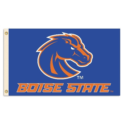NCAA Officially licensed products Boise State Broncos 3 Ft. X 5 Ft. Flag W/Grommets Show everyone that you are a die-hard fa