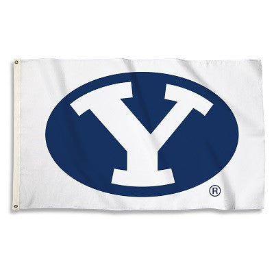 NCAA Officially licensed products Brigham Young Cougars 3 Ft. X 5 Ft. Flag W/Grommets Show everyone that you are a die-hard