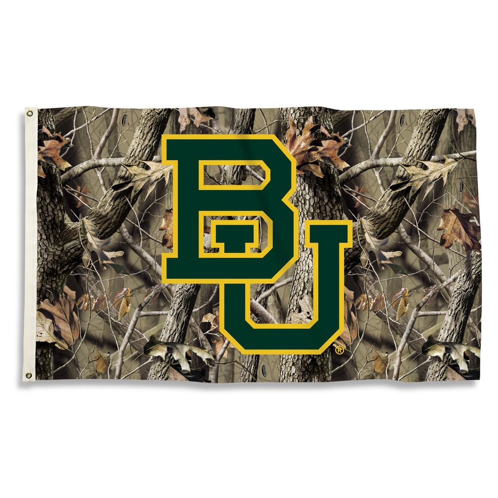 NCAA Officially licensed products Baylor Bears 3 Ft. X 5 Ft. Flag W/Grommets - Realtree Camo Background Show everyone that y