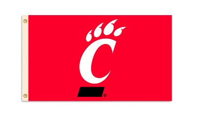 NCAA Officially licensed products Cincinnati Bearcats 3 Ft. X 5 Ft. Flag W/Grommets Show everyone that you are a die-hard fa