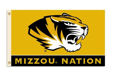 NCAA Officially licensed products Missouri Tigers 3 Ft. X 5 Ft. Flag W/Grommets Show everyone that you are a die-hard fan by
