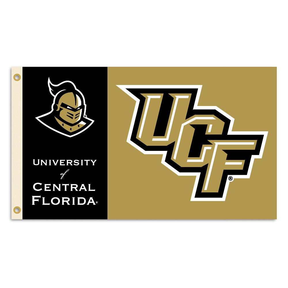 NCAA Officially licensed products Central Florida Golden Knights* 3 Ft. X 5 Ft. Flag W/Grommets Show everyone that you are a