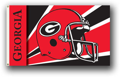 NCAA Officially licensed products Georgia Bulldogs 3 Ft. X 5 Ft. Flag W/Grommets - Helmet Design Show everyone that you are