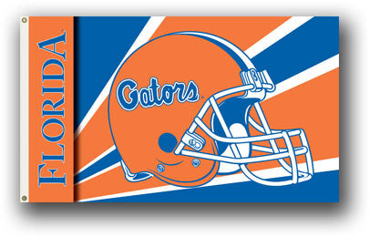 NCAA Officially licensed products Florida Gators 3 Ft. X 5 Ft. Flag W/Grommets - Helmet Design Show everyone that you are a