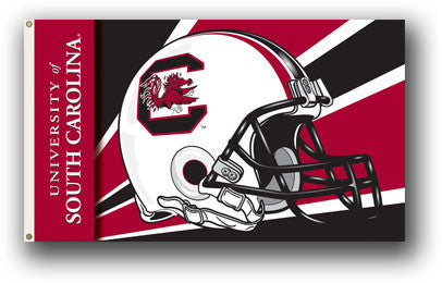 NCAA Officially licensed products South Carolina Gamecocks 3 Ft. X 5 Ft. Flag W/Grommets - Helmet Design Show everyone that