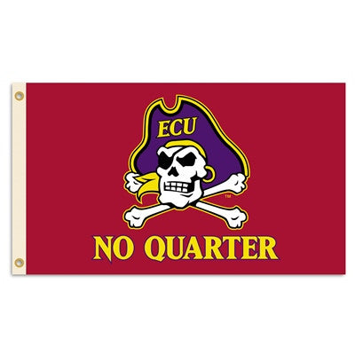 NCAA Officially licensed products East Carolina Pirates 3 Ft. X 5 Ft. Flag W/Grommets Show everyone that you are a die-hard