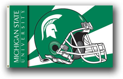 NCAA Officially licensed products Michigan State Spartans 3 Ft. X 5 Ft. Flag W/Grommets - Helmet Design Show everyone that y
