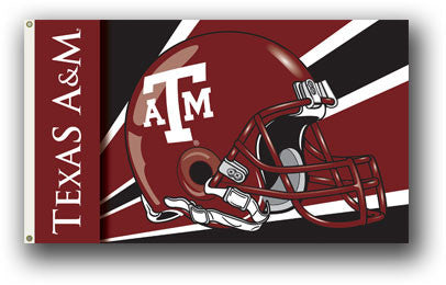 NCAA Officially licensed products Texas A&M Aggies 3 Ft. X 5 Ft. Flag W/Grommets - Helmet Design Show everyone that you are