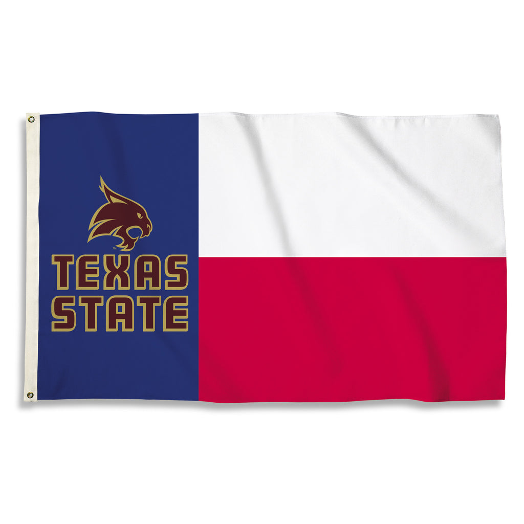 NCAA Officially licensed products Texas State Bobcats 3 Ft. X 5 Ft. Flag W/Grommets Show everyone that you are a die-hard fa