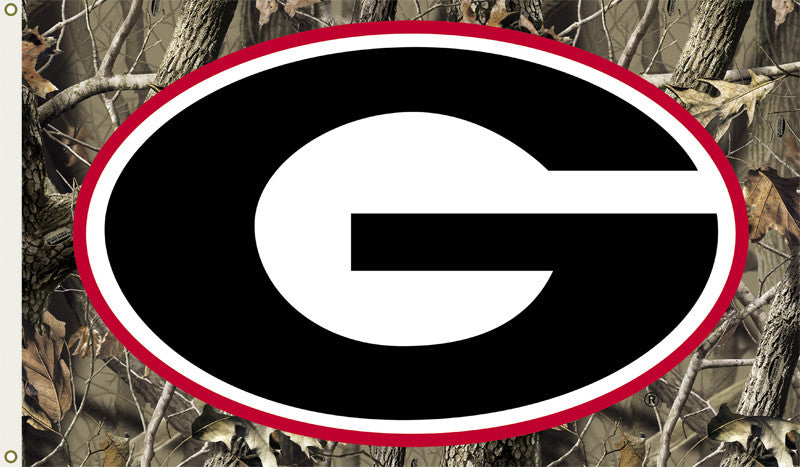 NCAA Officially licensed products Georgia Bulldogs 3 Ft. X 5 Ft. Flag W/Grommets - Realtree Camo Background Show everyone th