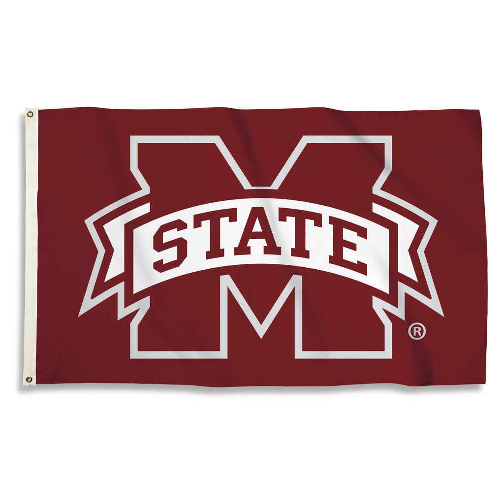 NCAA Officially licensed products Mississippi State Bulldogs 3 Ft. X 5 Ft. Flag W/Grommets Show everyone that you are a die-