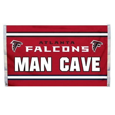 NFL Officially licensed products Atlanta Falcons Man Cave 3 x 5 Flag w/ 4 Grommets Show everyone that you are a die-hard fan