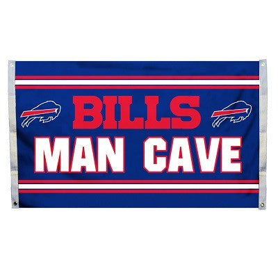 NFL Officially licensed products Buffalo Bills Man Cave 3 x 5 Flag w/ 4 Grommets Show everyone that you are a die-hard fan b