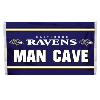 NFL Officially licensed products Baltimore Ravens Man Cave 3 x 5 Flag w/ 4 Grommets Show everyone that you are a die-hard fa