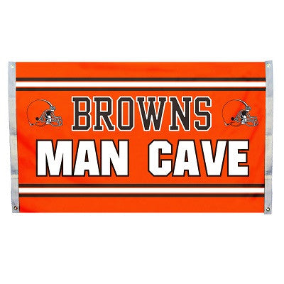NFL Officially licensed products Cleveland Browns Man Cave 3 x 5 Flag w/ 4 Grommets Show everyone that you are a die-hard fa