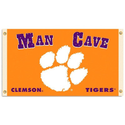 NCAA Officially licensed products Clemson Tigers Man Cave 3 Ft. X 5 Ft. Flag W/ 4 Grommets Show everyone that you are a die-